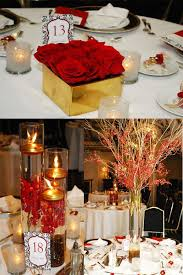 Awesome Red Gold Wedding Decorations 78 In Table Centerpieces For With