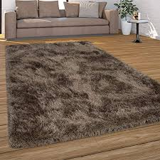 paco home hochflor teppich wohnzimmer shaggy pastell farben weicher soft garn einfarbig grösse 160x230 cm farbe beige