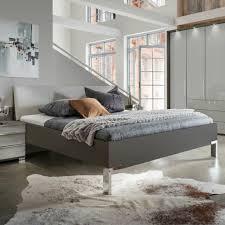 bett loft futonbett bettgestell schlafzimmer in grau mit