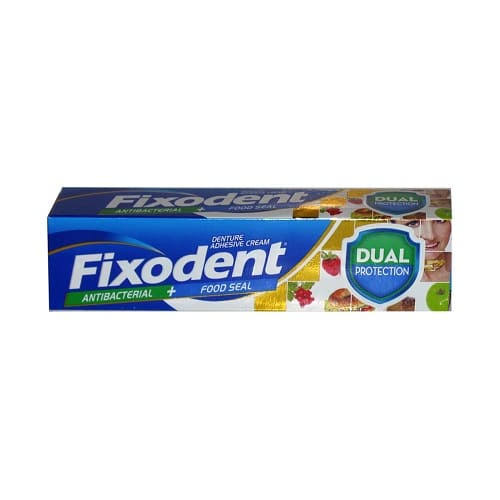 Fixodent Plus Dual Protection Premium Denture Adhesive - 40g