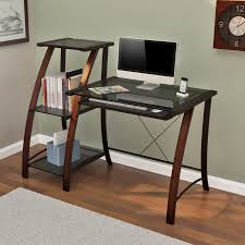 Amazon Wayfair Computer Desk by Z Line Triana Desk And Bookcase Cherry Hayneedle