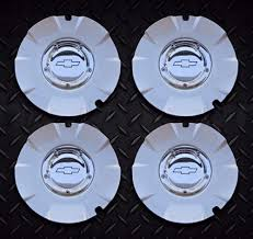 100 Chevy Truck Center Caps Silverado 1500 Wheel Center Caps Hubcaps 5243A SET OF 4 SILVER