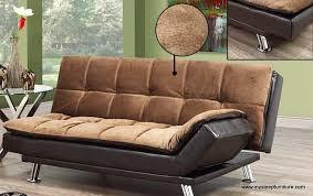 373 elephant skin brown fabric two tone klik klak sofa bed mysleep