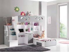 lit mezzanine bureau blanc lit combiné mezzanine coloris gris et blanc avec bureau