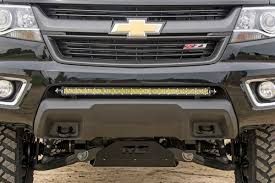 30in Single-Row LED Light Bar Hidden Bumper Mounting Brackets For ...