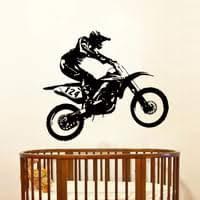 bike trick wandtattoo motocross motorrad wand sticker jungen schlafzimmer nachbildung verfügbar schwarz