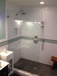 white beveled subway tile shower fashionable white beveled