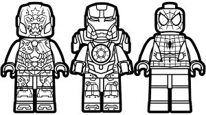 Lego Spiderman Vs Scuba Iron Man Justin Hammer Coloring Pages