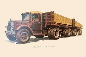 File:1932-1941 - Mack BM Lumber Hauler - 1976 Commemerative Card ...