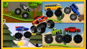 Monster Truck Stunt | Monster Truck Videos For Kids | Monster Trucks ...