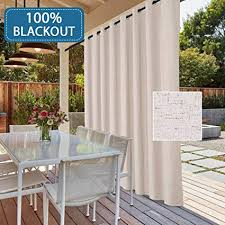 HVERSAILTEX 100 Blackout Patio Door Linen Curtains For Sliding Extra Long