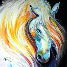Abstract Art Gallery Lipizzaner Original Horse Oil Paintingsimple Canvas Painting Ideas For Beginners Flowers
