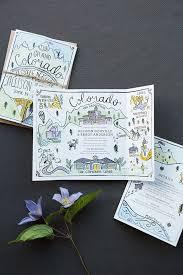Illustrated Adventure Driven Wedding Invitations