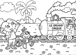 Printable Dora The Explorer Colorin Coloring Page
