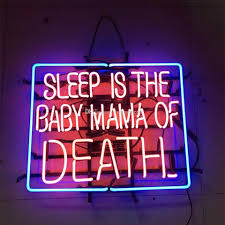 2018 17x14 sleep is the baby of neon sign wall decor