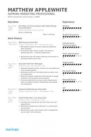 Warehouse Associate Resume Cv Template General Worker Sample Fitted Yet