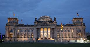 Tourists Visiting Reichstag Bundestag Parliament Building Berlin
