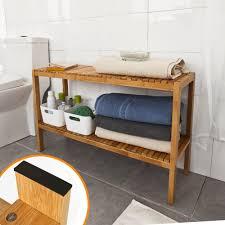 sobuy badezimmerregal badezimmerschrank bambusregal badregal handtuchhalter fsr14 l n