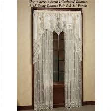Lace Priscilla Curtains With Attached Valance by Priscilla Shower Curtains Home Decorating Interior Design Bath