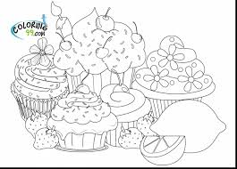 Fantastic Hard Cupcake Coloring Pages With And Animals