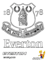 English Premier League Everton Football Coloring At YesColoring