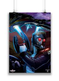 Official Guardians Of The Galaxy Classic Star Lord Comic Art By MarvelTM Poster