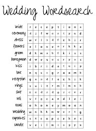Coloring Pages Printable Wedding Wordsearch Kids Games Improve Writing Important Fine Motor Skills Picture Amazing
