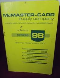 McMaster Carr Supply Company Catalog 1998 Plant Industry Merchandise