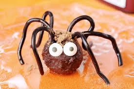 Rice Krispie Halloween Treats Spiders by No Tricks Just Halloween Treats