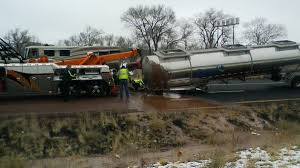 100 Truck Crashes Video River Of Chocolate Blocks Highway Traffic After Truck Crashes