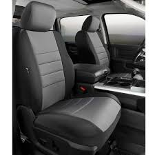 Fia Neoprene Custom Fit Seat Covers, Front Seat, Black With Gray ...