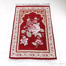 2017 Newest Design Floral Chenille Unique Anti Skid MashaAllah Travelling Islamic Prayer Mat Salat Musallah Muslim Praying Carpet Rug