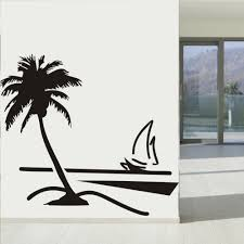 Wall Mural Decals Beach by Online Get Cheap Palm Tree Wall Decal Aliexpress Com Alibaba Group
