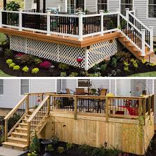 Metal Deck Skirting Ideas by Upgrade Your Deck And Add Finishing Touches