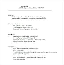 Hvac Technician Resume Samples Sample Surprising Templates Job Examples