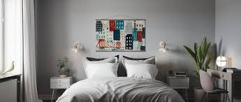 new york skyline collage blue i
