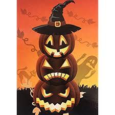 American Flag Pumpkin Carvings by Amazon Com Toland Happy Halloween Decorative Pumpkin Holiday