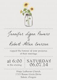 Simple Sunflower Mason Jars Wedding Invitation EWI355