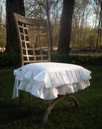 White Ruffled Chair Cover By PaulaAndErika On Etsy, $45.00 ... Vintage Upcycled Velvet Ruffled Cushion And Pad Embellished Glam Cover Elegantly Twee Boudoir Wcrystal Buckle Linen Covers Cushions Ding Room Chair Pads With Ties Ding Room Chair Slipcovers The Slipcover Maker From Shower Curtain To French Country Kitchen Pads Video Photos Rectangle Pillow Covercushion How Select Seat For Chairs Overstockcom Cover Gathered Ruffles With Ballerina Sash Lace Love Ruffle White Ethic Cotton Blending Handmade Decorative Large Patio Porch Minggame001 1663 Delightful Teal Slipcovers