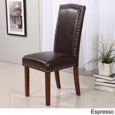 perfect leather dining chairs with nailheads a to design