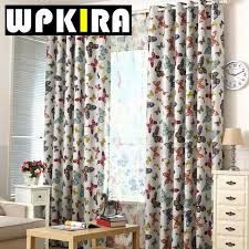 Rustic Style Butterfly Pattern American Curtain Window Screen For Living Room Sitting Bedroom Sheer Curtains