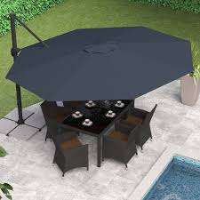 Walmart Patio Umbrellas With Solar Lights by Fresh 11 Cantilever Patio Umbrella With Base Achievesmartgoals Com
