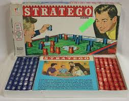 Vintage Stratego Board Game Milton Bradley 1970s Plastic Complete War Strategy MB