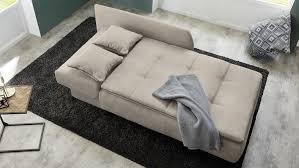 recamiere schlafsofa sofa in beige mit