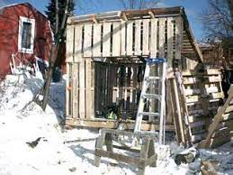 Building a shed from recycled wooden pallets Building with pallets