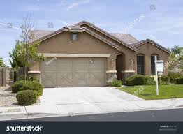 100 Modern Stucco House Brown Single Level Home Stock Photo Edit Now