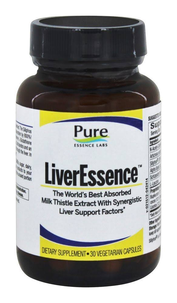 Pure Essence Labs Liver Essence Dietary Supplement - 30 Capsules