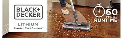 Shark Cordless Floor And Carpet Sweeper V2930 by Amazon Com Black Decker Hfs215j01 Lithium Floor Sweeper 60 Min