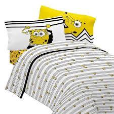 Spongebob Squarepants Bathroom Decor by Spongebob Bedding Try Angle Comforter Nickelodeon Sheets