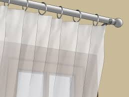 No Drill Curtain Rods Uk by 4 Ways To Hang Voile Wikihow
